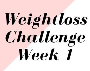 weightloss challenge week 1
